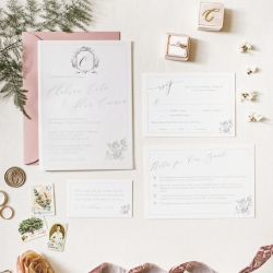 Detail shot of wedding stationary captured by Cheyenne Schultz Photography