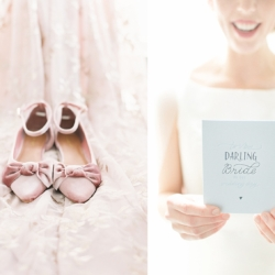 Detail shot of bridal shoes and dress captured by Cheyenne Schultz Photography