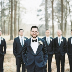 Groom with groomsmen captured by Cheyenne Schultz Photography