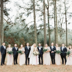 Bridal party captured for downtown Belmont North Carolina wedding coordinated by Magnificent Moments Weddings