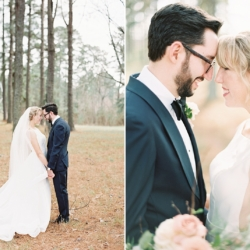 Bride and groom first look in downtown Belmont North Carolina Wedding coordinated by Magnificent Moments Weddings