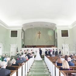 Wedding ceremony at Covenant United Methodist Church in Gastonia North Carolina