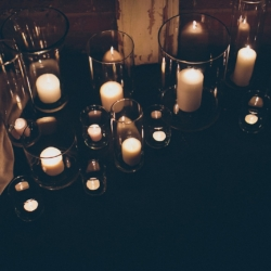Candle light detail shot captured by Cheyenne Schultz Photography