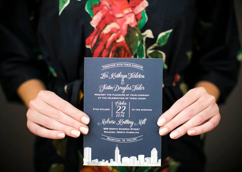 Magnificent Moments Weddings custom wedding invitation