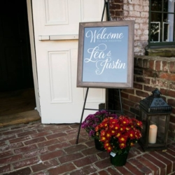 Magnificent Moments Weddings decorating for a wedding at Melrose Knitting Mill in Raleigh