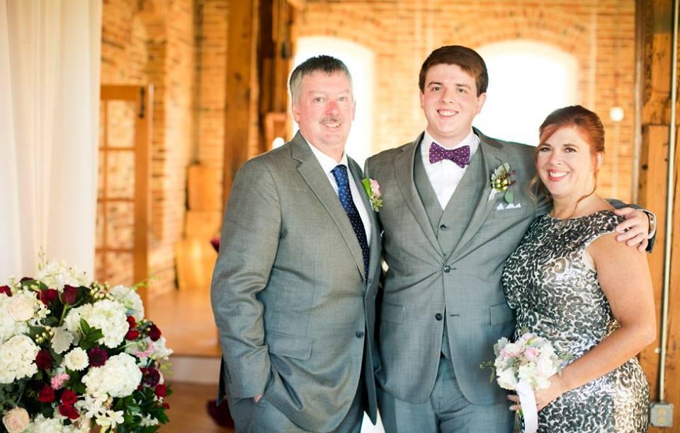 Proud groom's parents