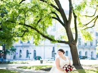 Magnificent Moments Weddings bride posing for bridal portrait
