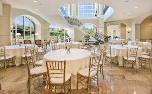 Atrium at the Ballantyne Hotel beautiful wedding reception site
