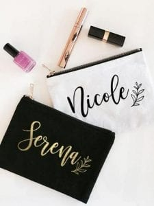 Custom Name Cosmetic Bag Large