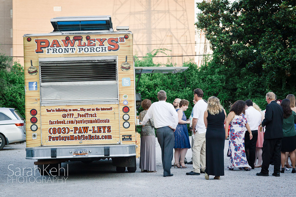 Pawley's Front Porch food truck at Robert Mills House Wedding