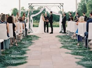 Couple marrying at The Ballantyne Hotel