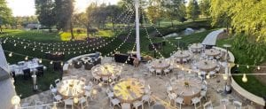 The Ballantyne Hotel Lodge Patio set for amazing reception