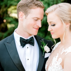 Alyssa Frost Photography captures a bride and groom before their ceremony at Firethorne Country Club