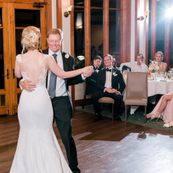Alyssa Frost Photography captures a bride and her father dancing during her wedding reception coordinated by Magnificent Moments Weddings