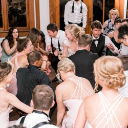 Split Second Sound kept the dance floor packed during a summer wedding at Firethorne Country Club