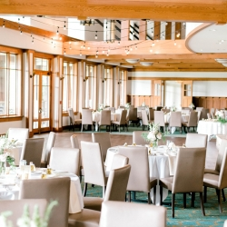 Reception space at Firethorne Country Club served as the perfect backdrop of a summer wedding coordinated by Magnificent Moments Weddings