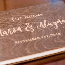 Custom guestbook created for a fall wedding at Stony Mountain Vineyards