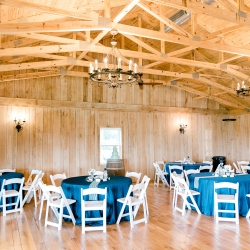 Reception space at Stony Mountain Vineyard ready for a fun fall party captured by Alyssa Frost Photography