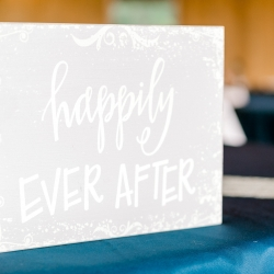 Happily Ever After sign shows the couples love at their fall wedding at Stony Mountain Vineyards