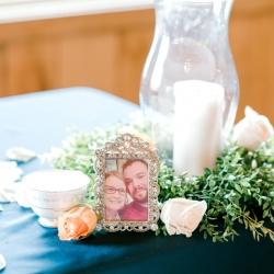 Sweet detail shot of couples sweetheart table captured by Alyssa Frost Photography for a wedding at Stony Mountain Vineyards