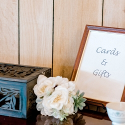 Gift and card table at a beautiful early fall wedding at Stony Mountain Vineyard captured by Alyssa Frost Photography