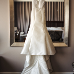 Hayden Olivia Bridal dress with train detail show captured by Anchor and Veil Photography