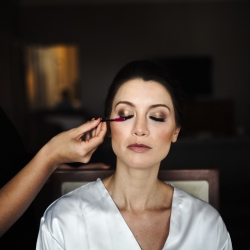 Beauty Asylum providing final touches to makeup for Uptown Charlotte North Carolina Bride