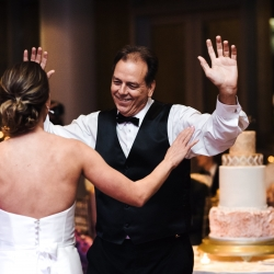 Reception dancing at Mint Museum wedding in Uptown Charlotte music provided by 5 on Sundays coordination by Magnificent Moments Weddings