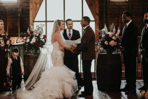 Charlotte marriage officiant at the Dairy Barn captured by Avonne Photography, coordination by Magnificent Moments Weddings