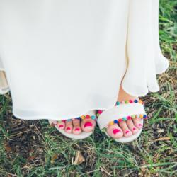 fun colorful wedding shoes