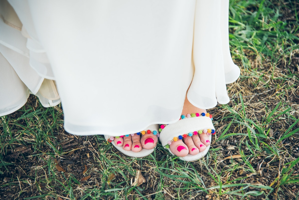 fun colorful wedding shoes