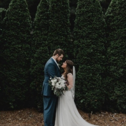 Bride and Groom wedding portraits at Camellia Gardens