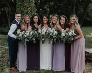 Camellia Gardens wedding bridal party hand tied bouquets by Sweet T Florals coordination by Magnificent Moments Weddings