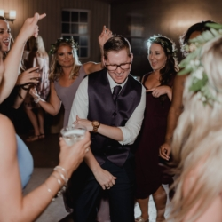 dancing the night away at a wedding