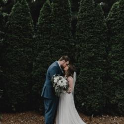 bride and groom wedding portraits