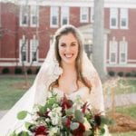 Bride posing during her Uptown Charlotte Wedding coordinated by Magnificent Moments Weddings