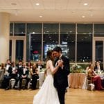 Bride and groom enjoy a first dance captured by Cameron Faye Photography