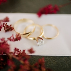 Detail shot of wedding rings captured by Cameron Faye Photography