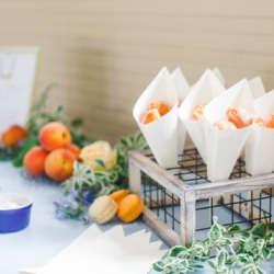 Krispy Kreme doughnut holes make a delicious wedding dessert for a southern bride married at The Diary Barn in Fort Mill South Carolina