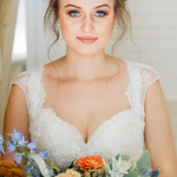 Charlotte bridal portrait captured by Julia Fay Photography with hair and makeup done by Reagan Love Makeup
