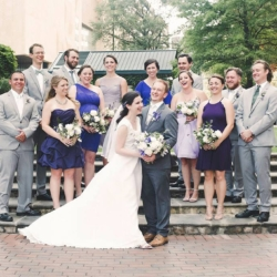 wedding party photos at the Green in Charlotte North Carolina