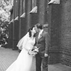 bride and groom formal wedding shot