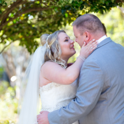 wedding ceremony at McGill Rose Garden in Charlotte NC photo by Keith Marwitz Photography