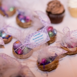 Love builds the warmest nest wedding favors