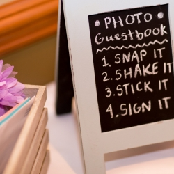 photo guestbook instructions at Ruth's Chris steakhouse