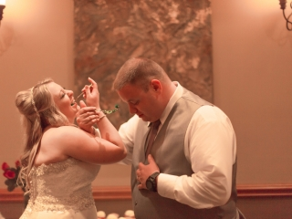 dropping the wedding cake