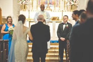 Charlotte Wedding officiant held at St Peter's Episcopal Church captured by Michael Board Photography, coordination by Magnificent Moments Weddings