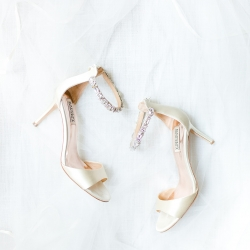More Beatty Photography captures stunning bridal shoes and accessories for a summer wedding coordinated by Magnificent Moments Weddings