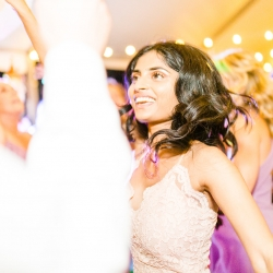 Carolina DJ Professionals kept the dance floor packed during a summer wedding at The Peninsula Yacht Club