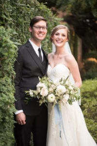 Charlotte wedding couple hand tied bouquet coordination by Magnificent Moments Weddings